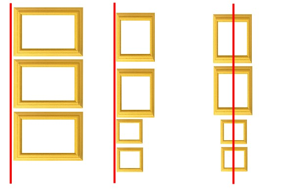 cadre en ligne verticale
