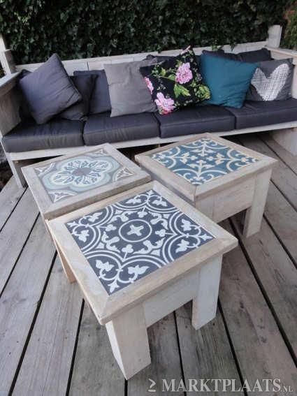 petites tables carreau de ciment