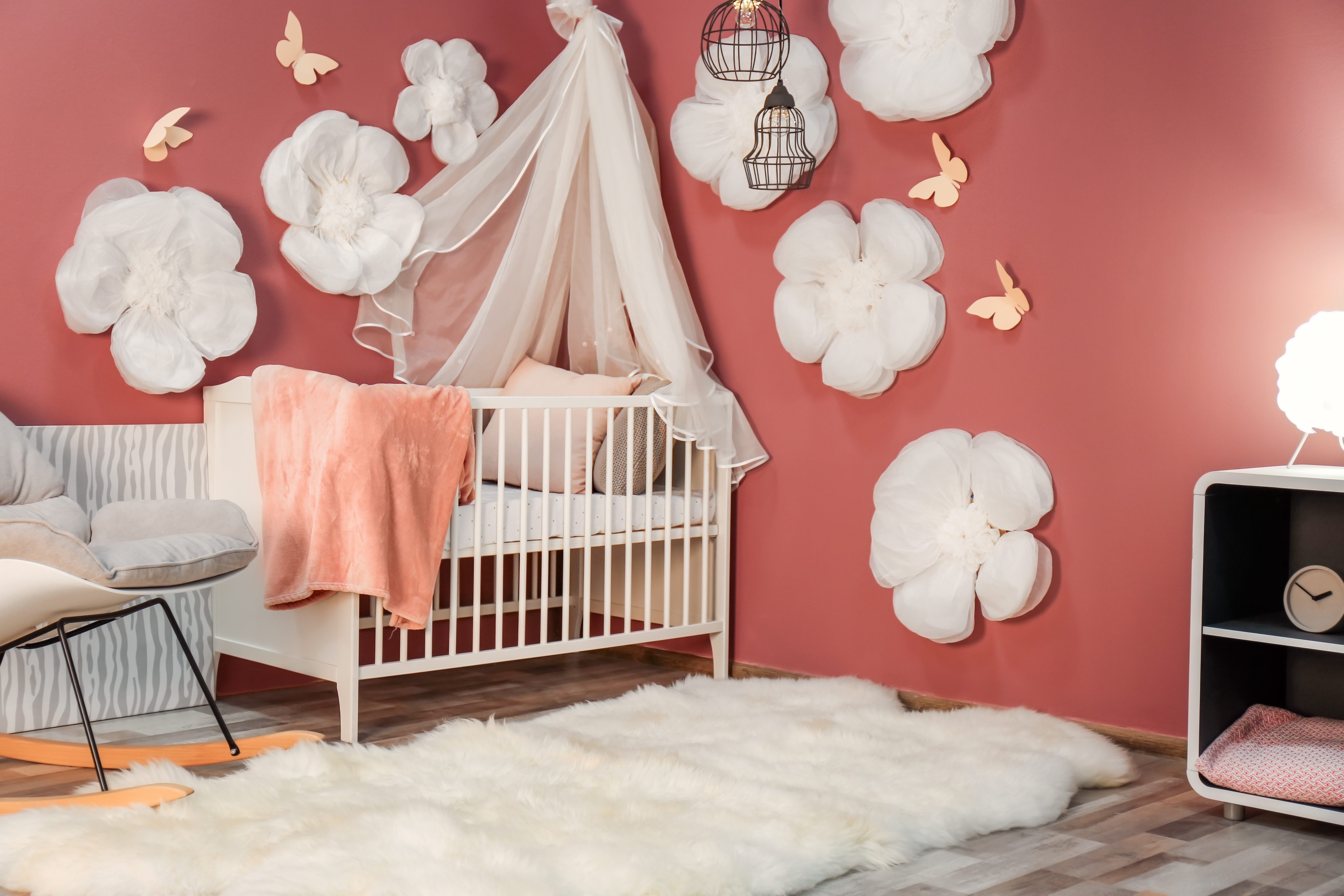 chambre bebe cocooning lit a barreaux