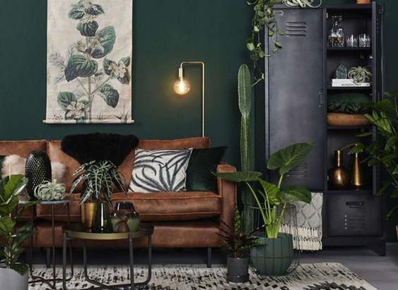 Blue Living Room Green Sofa