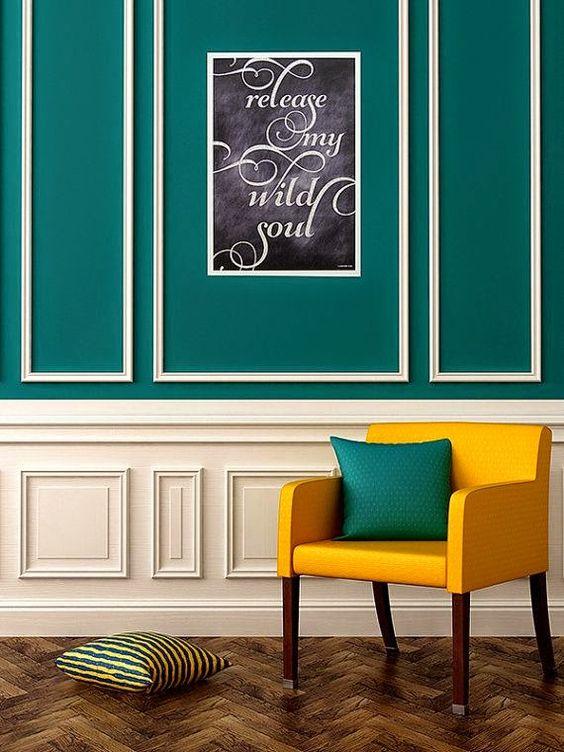 tableau pinterest comment int grer du bleu canard dans votre d co le mag visiondeco. Black Bedroom Furniture Sets. Home Design Ideas