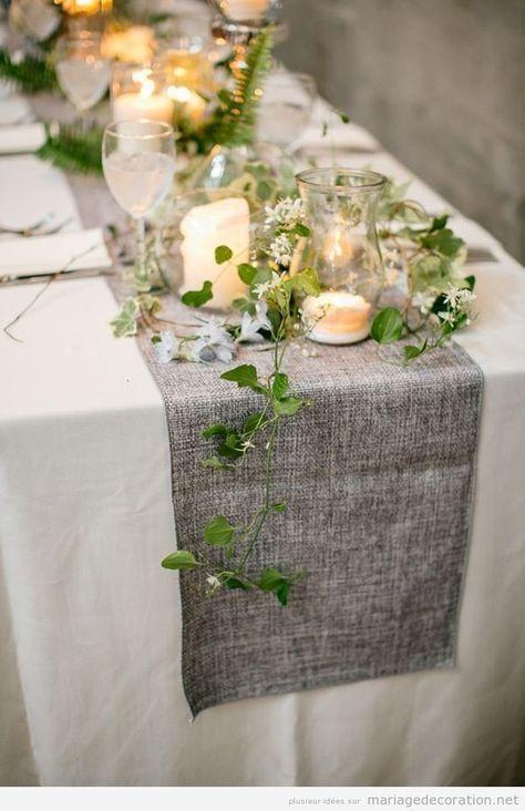 décoration de table nature