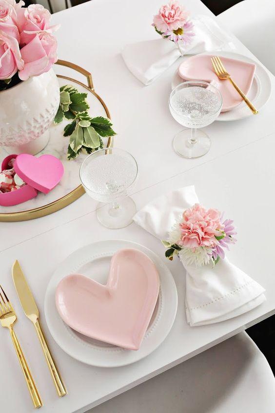 Saint Valentin Idées De Décoration De Table Par Thèmele Mag