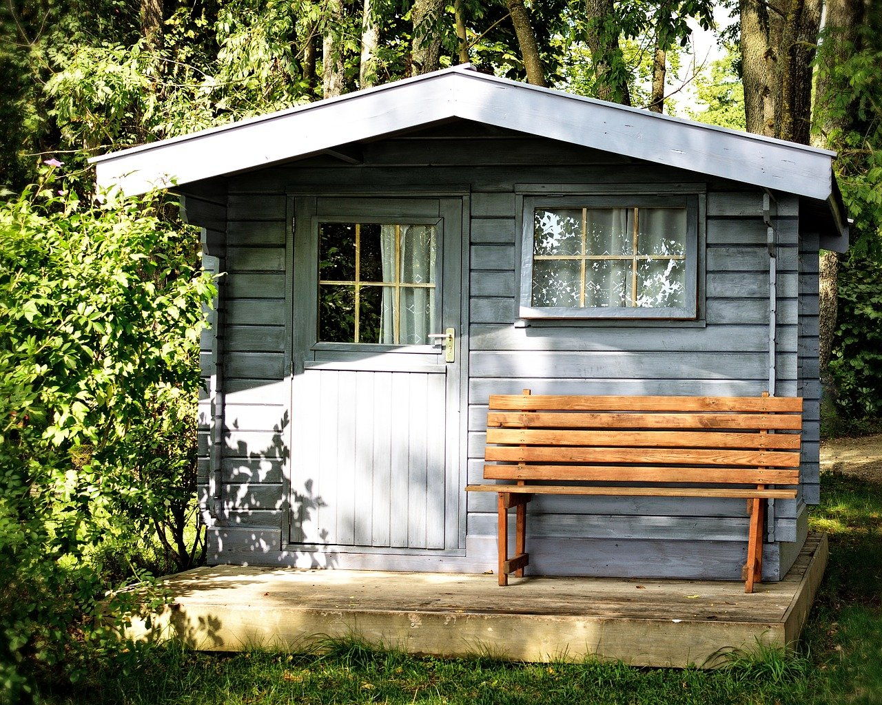 cabane ou abri de jardin