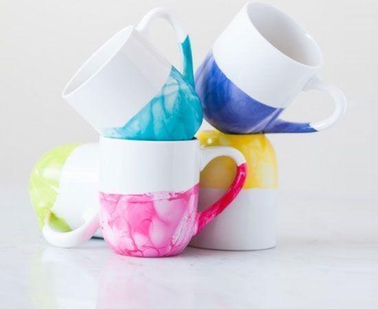 marbrure sur tasse