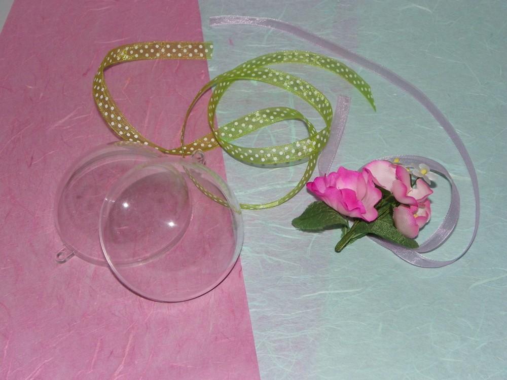 materiel pour réaliser boule avec bouquet