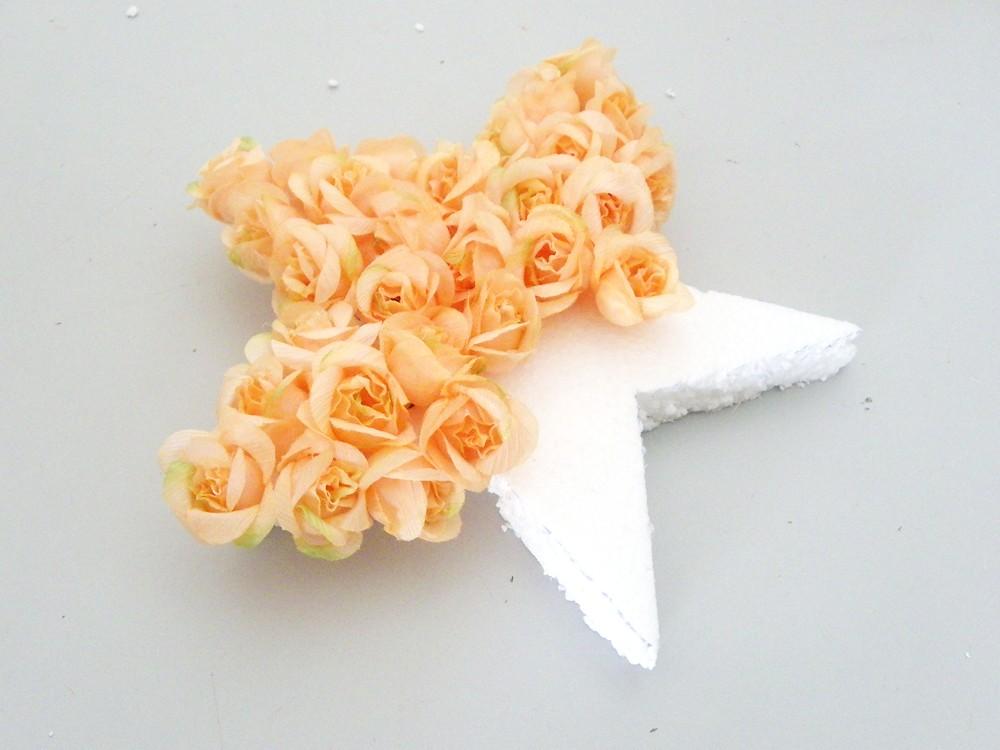 remplir l etoile polystyrene de fleurs
