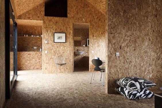 comment int grer un panneau de bois osb dans votre d coration le mag visiondeco. Black Bedroom Furniture Sets. Home Design Ideas