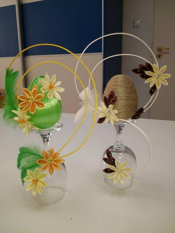 verre fleurs et oeuf