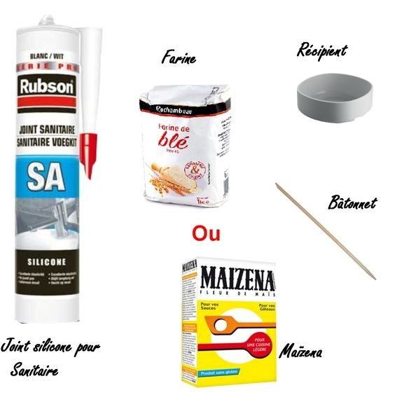 ingrediants pate silicone pour moulage