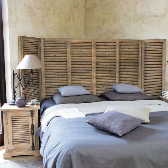 tete de lit en persiennes